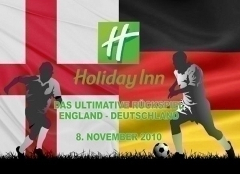 Plakat zum Fussballl�nderspiel (Amateure) England - Deutschland am 8.November in London
